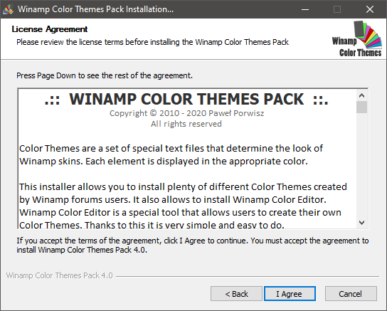 Winamp Color Themes Installation